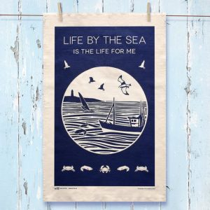 Life By The Sea Tea Towel