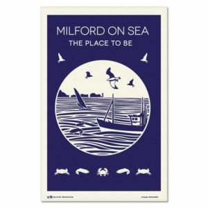 Milford On Sea Tea Towel