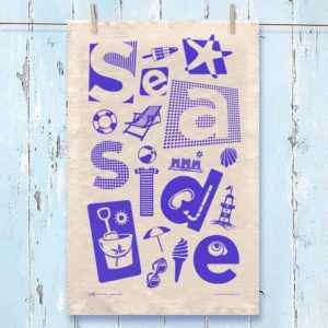 Seaside Tea Towel Blue