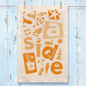 Seaside Tea Towel Orange
