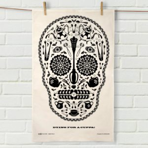 Sugar Skull Tea Towel