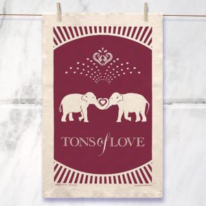 Tones Of Love Tea Towel