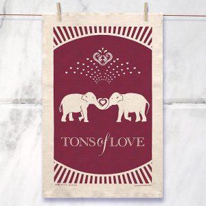 Tones Of Love Tea Towel