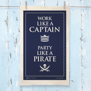 Party Like a Pirate Tea Towel